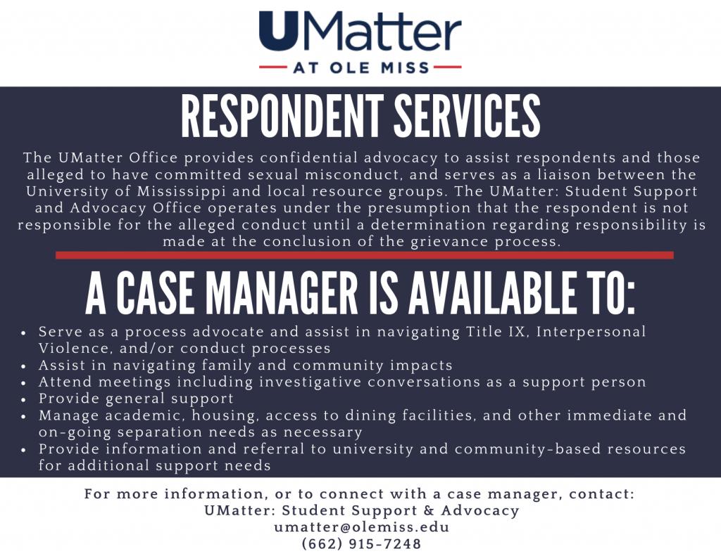 UMatter Respondent Services